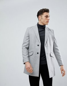 Read more about Burton menswear overcoat in light grey - grey