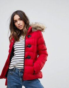 Read more about Brave soul short padded coat - red