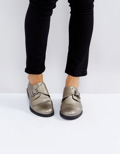 Read more about Park lane monk shoe with buckle - pewter