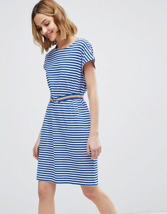 Read more about M i h boater striped dress with belt - cream classic blue