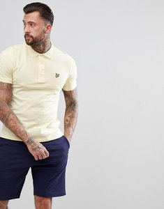 Read more about Lyle scott polo shirt in yellow - buttercream