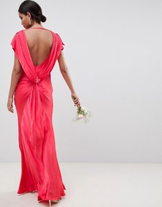 Read more about Ghost capped sleeve maxi dress - crimson
