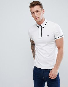 Read more about French connection piping polo shirt - white