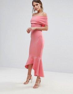 Read more about Club l bardot drop peplum dress - peach bloss