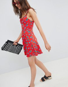Read more about Asos mini cotton sundress with cups in floral print - floral print