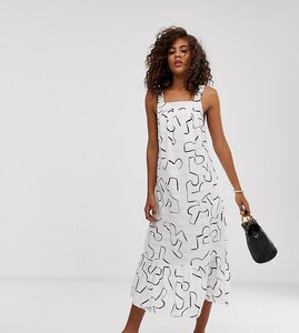 Read more about Asos design tall pephem midi sundress in contemporary print