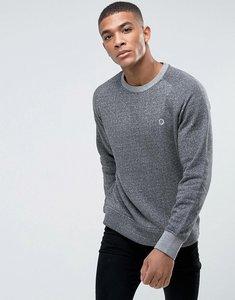 Read more about Jack jones crew neck logo sweatshirt - light grey melange