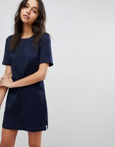 Read more about French connection animal jaquard denim dress - blue black indigo