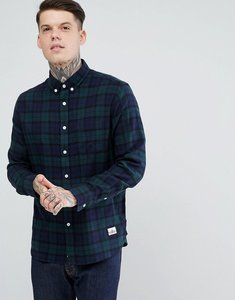 Read more about Penfield young tartan check shirt buttondown flannel regular fit in blue - blue
