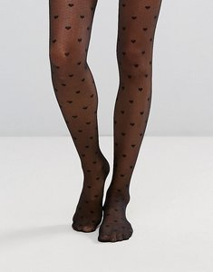Read more about Asos heart tights - black