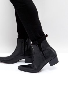 Read more about Jeffery west murphy chelsea boots in black leather - black