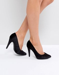 Read more about New look velvet court heeled shoe - black