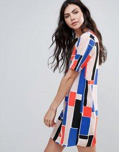 Read more about Vero moda printed shift dress - multi