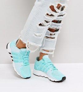 Read more about Adidas originals eqt support rf primeknit trainer in aqua - blue