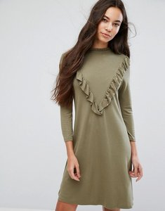 Read more about B young ruffle high neck dress - copenhagen night