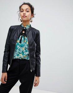 Read more about Vila faux leather jacket - black