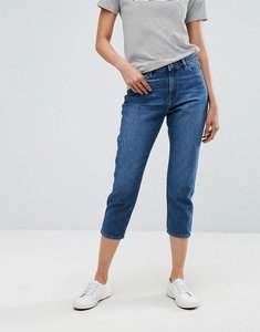 Read more about Esprit cropped mom jeans - blue