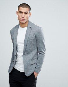 Read more about Only sons skinny jersey blazer - medium grey melange