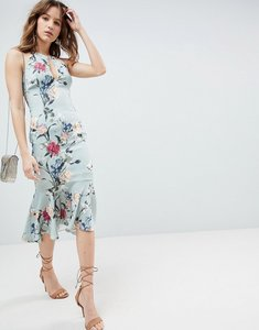 Read more about Hope ivy all over printed peplum hem dress - multi