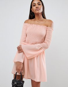 Read more about Missguided bardot swing dress - pink