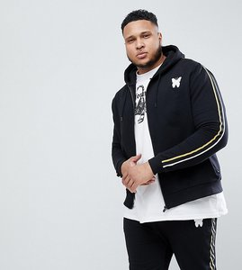 Read more about Good for nothing plus hoodie in black with side stripes exclusive to asos - black