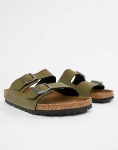Read more about Birkenstock vegan arizona birko-flor sandals in green - green