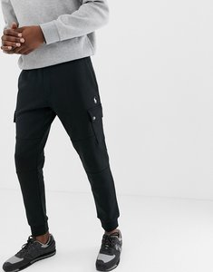 Read more about Polo ralph lauren slim fit cuffed joggers with cargo pockets in black