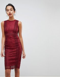Read more about Ax paris premium lace midi dress - wine