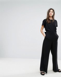 Read more about Weekday wideleg jumpsuit - black