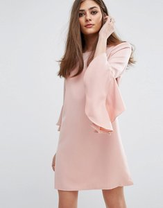 Read more about Missguided ruffle flute sleeve shift dress - pink