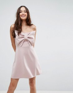 Read more about Asos scuba bow front mini dress - mink