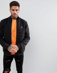 Read more about Lyle scott wadded funnel neck jacket in black - true black