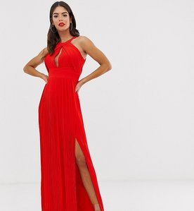 Read more about Tfnc tall pleated maxi dress in red