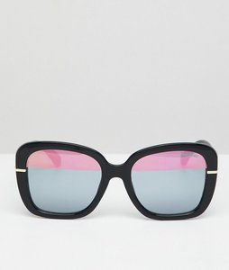 Read more about Black phoenix oversized sunglasses - black gold