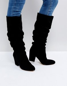 Read more about Office kowl slouch leather boots - black