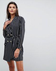 Read more about Asos 80 s stripe tux mini dress - multi