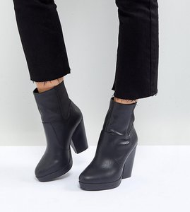 Read more about Asos earthling wide fit high ankle boots - black