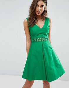 Read more about Asos crochet insert sundress - green
