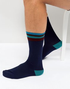 Read more about Paul smith artist stripe top socks in navy - navy