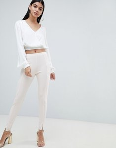 Read more about Missguided cigarette trouser - nude