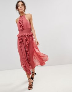 Read more about Keepsake ruffle swing dress - mineral red