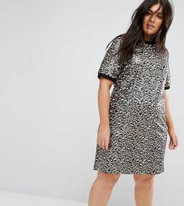 Read more about Asos curve animal embellished shift mini dress - multi