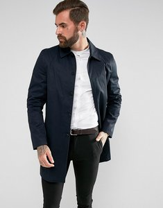 Read more about New look single breasted cotton mac in navy - navy