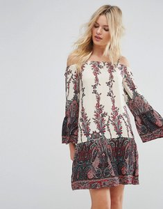 Read more about Rage cold shoulder printed dress - multi