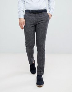 Read more about Farah skinny wedding suit trousers in charcoal fleck - charcoal