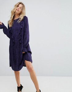Read more about Y a s serry ruffle long sleeve dress - night sky