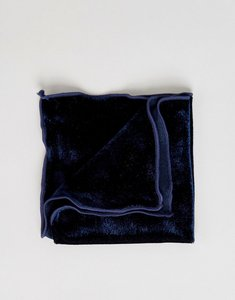 Read more about Asos velour pocket square in navy - ny1