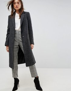 Read more about Asos slim coat in wool blend - charcoal