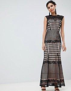 Read more about Little mistress crochet maxi dress - black