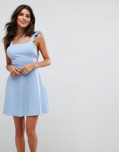 Read more about Asos mini skater sundress with frill straps - pale blue
